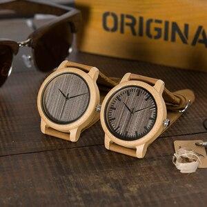 Image 4 - Часы BOBO BIRD WL10 мужские и женские, Круглые, античные, деревянные, с кожаным ремешком