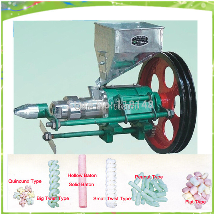 free shipping 15-20kg output Corn Rice Puffing Food Snack Extruder Machine and Corn Rice Puffed Machine large production of snack foods puffing machine grain extruder single screw food extruder