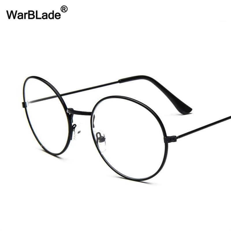7ccef341c44 WBL Retro Round Optical Lens Eyewear Lunette Mens Womens Sun glasses  Vintage Gold Metal Frame Eyeglasses