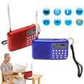 Mini lcd digital de audio de radio fm altavoz usb sd micro tf reproductor de música mp3
