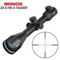 Hunting MINOX ZA 5i HD 3-15x50 SF Riflescopes Illuminated Glass Etched Reticle Side Parallax Turrets Lock Reset Shooting Scope