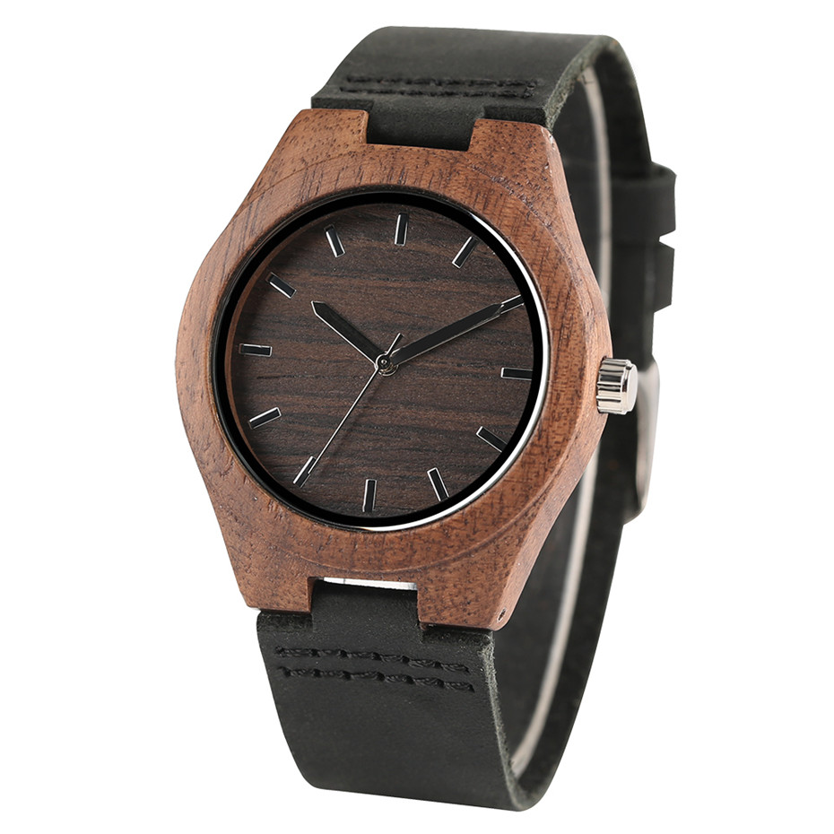 simple design style nature wood creative watches1
