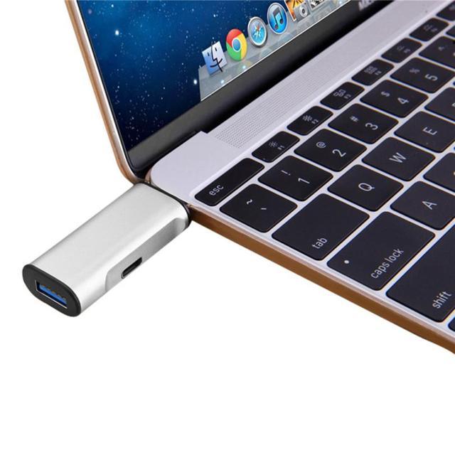 Venta caliente USB 3.0 Hub Adaptador USB-C Tipo C de Carga y Sincronización de Datos para el Nuevo MacBook Nuevo! llegada