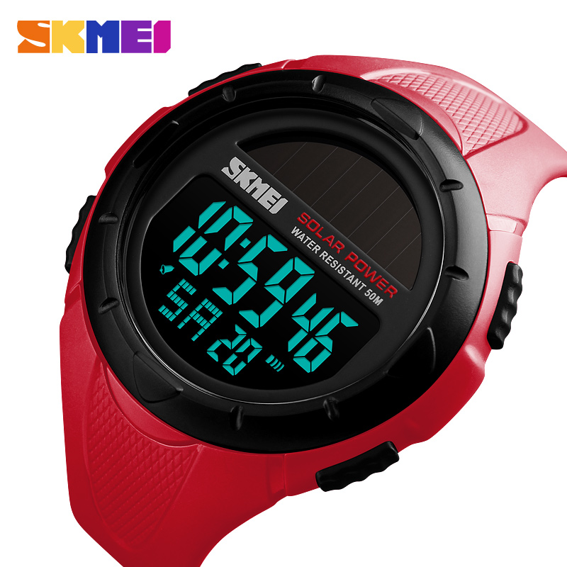 Selfless Zk20 Sport Watch Man Clock Men Digital Wrist Watches Top Outdoor Solar Power 12/24 Hour Water Resistant Mens Watch Casual 1405 For Sale Digital Watches