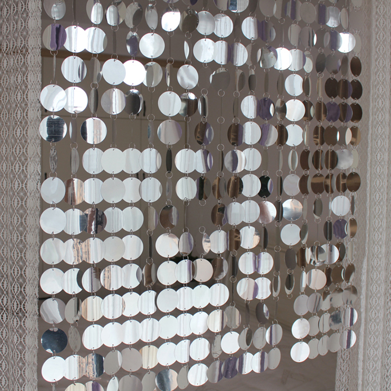 Decorative Curtains Party-Supplies Sequins DIY PVC Festival