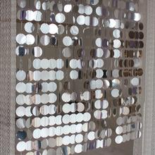Materiały festiwalowe cekinowa kurtyna z pcv dekoracyjne do wnętrza zasłony DIY materiały ślubne cheap FAWNUOS Translucidus (stopa cieniowanie 1 -40 ) Kurtyny Lewy i prawy biparting otwarta Drzwi Montaż sufitowy Przędzy barwionej