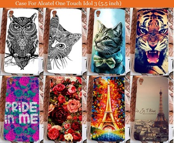 For Alcatel Idol 3 5.5 inch case beautiful flowers Cover Case FOR for Alcatel One Touch Idol 3 6045 6045Y 6045K image