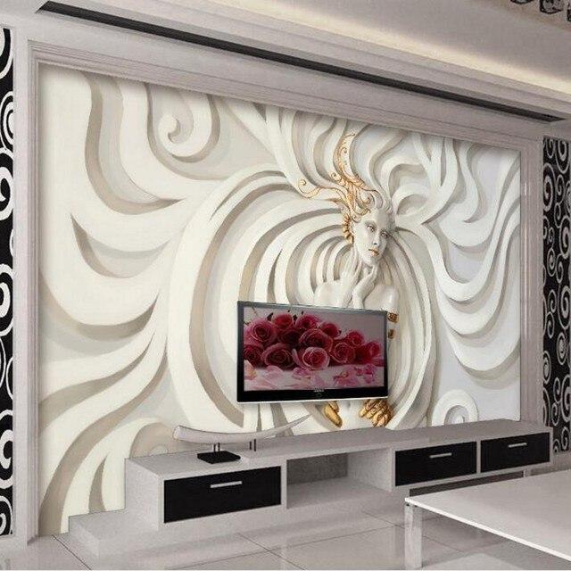 Beibehang personalizado wallpaper alivio yeso fondos mural for Papel pintado personalizado