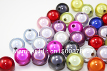 Freeshipping!100pcs/12mm Colored Round  Acrylic Beads Jewelry For & Necklace Findings