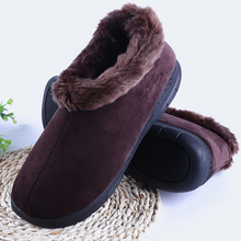 Men Ankle Boots Short plush Warm Winter boots men Wedges Plus Size 45-46 TPR Warm Suede Slip on Hard wearing Soft Boots men parks a bloody january