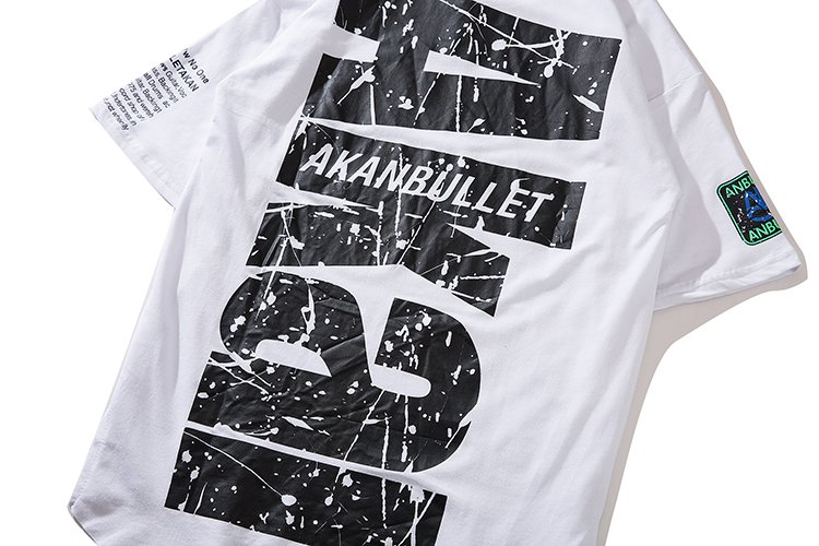 Street Fashion Men Short Tshirtbrand Hip Hop Half Sleeve Tshirt Men Ins Loose Wind Letter Print O neck Half Sleeve Plus in T Shirts from Men 39 s Clothing