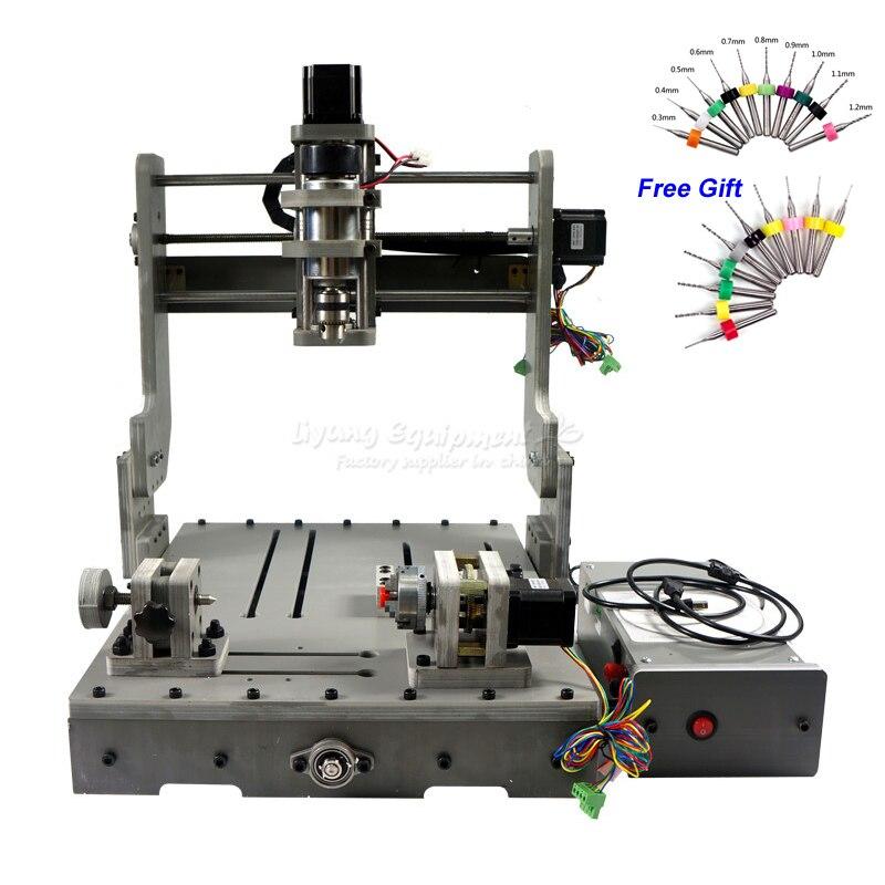Bricolage 3040 axe rotatif CNC routeur 300 W CNC broche CNC Machine pour le forage de bois PCB fraisage