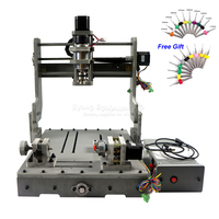 Diy usb 3040 eixo rotativo cnc roteador 300 w eixo do motor cnc máquina para perfuração de madeira pcb moagem
