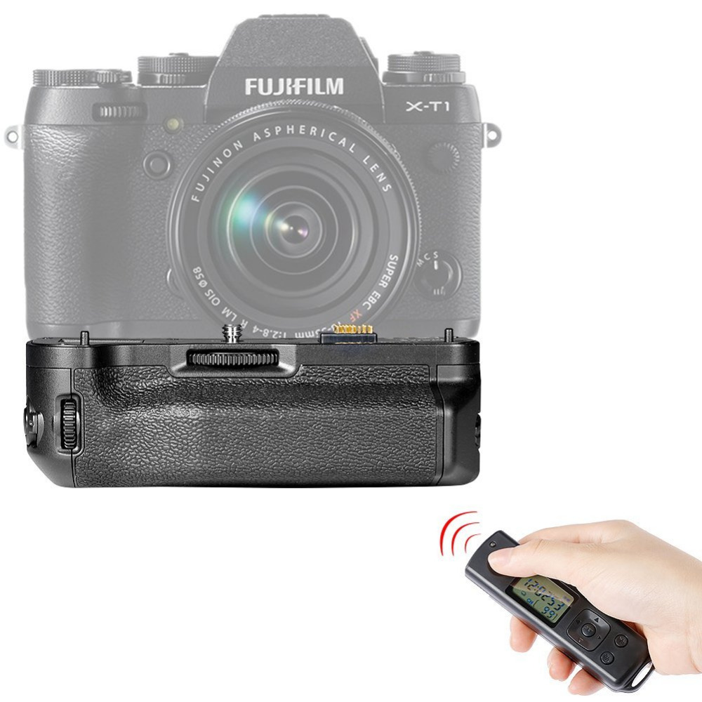 ФОТО Neewer Meike Pro MK-XT1 2.4GHz LCD Screen Wireless Remote Controller Battery Grip Works with NP-W126 Battery for Fujifilm XT1