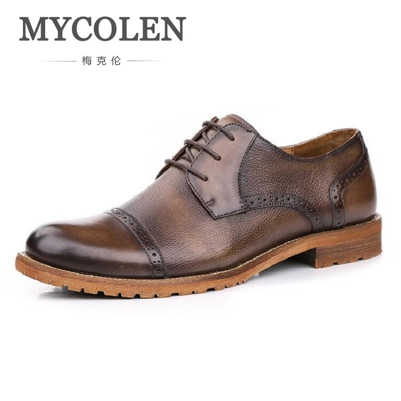 MYCOLEN Fashion Brand Men Shoes Winter Handsome Business Casual Shoes Breathable Men's Leather Shoes Man Derby Sapato Social mycolen fashion brand men shoes winter handsome business casual shoes breathable men s leather shoes man derby sapato social