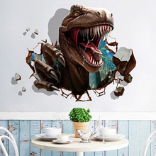 NEW 3d Dinosaur Wall Sticker Home Decoration for Kids Room Living Decals Decorative 1pc 60 x 90cm