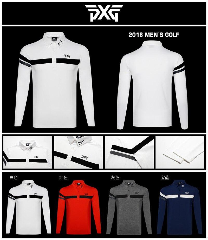 Golf T-shirt PXG Men's autumn Sportswear long sleeve Golf T-shirt S-XXL to choose