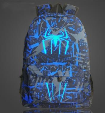 Superhero Cool Night Lumious Backpack Boys Girls S
