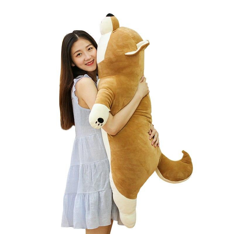 55/80cm Cute dog plush toys stuffed Down Cotton Soft dog pillow cushion Zodiac birthday gift gray/brown lacywear s 296 ari