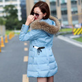 2017 New Coats & Jackets  Hooded Winter  snow Jacket Women  Fur collar winter coat women Long Cotton-padded Coat