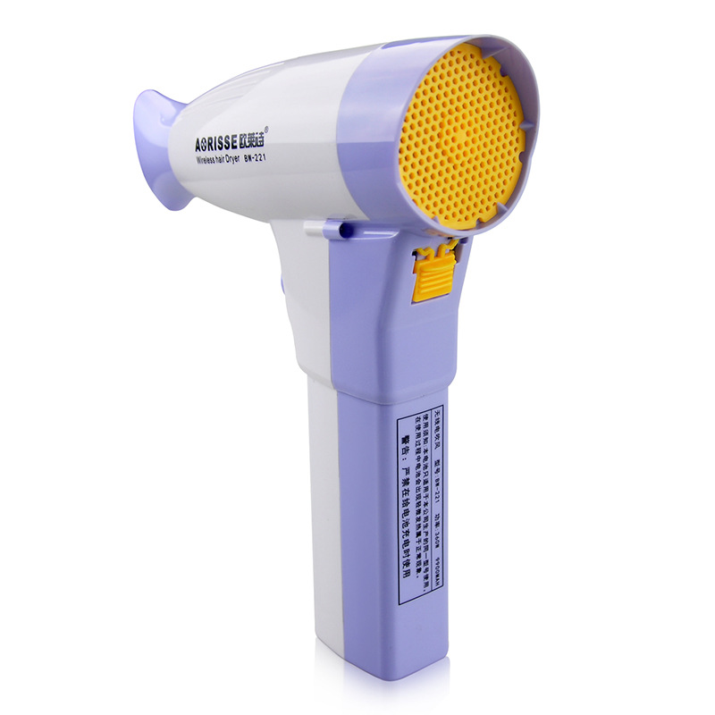 Wireless Hairdryer Lithium Battery Rechargable Portable Hair Dryer Home Travel Outdoor Business Blower Hairdressing Tool UN861