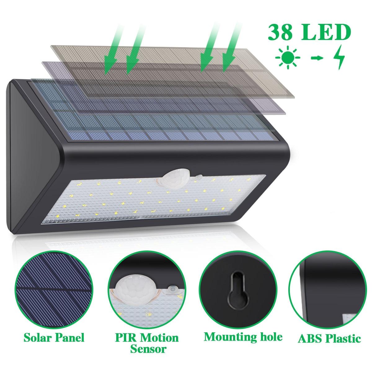 Sensor de movimento solar sem fio lâmpadas
