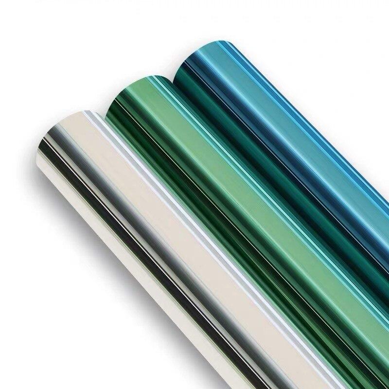 Solar mirror Window Film DIY one way Privacy film Heat control Anti UV Decorative Foil Self-Adhesive Home Office Building