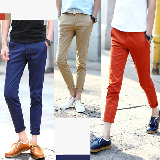 Hot Sale Men S Fashion Slim Fit Ankle Length Pants Cropped