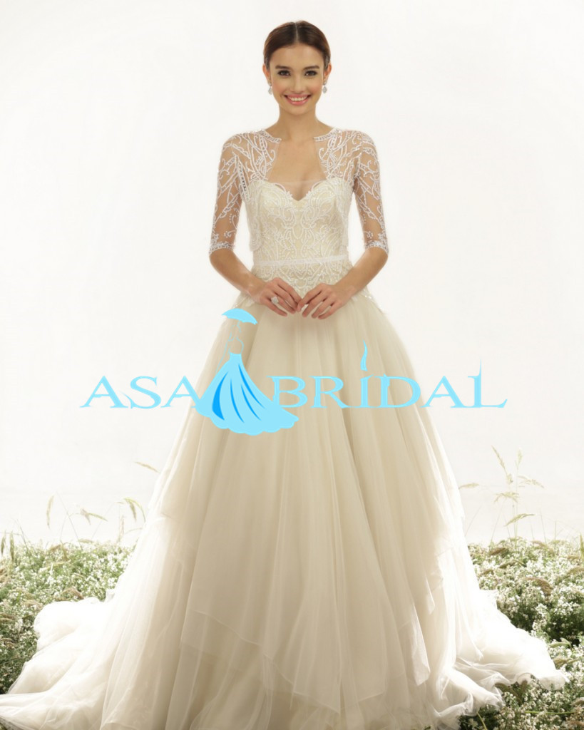 Popular 3 4 sleeve wedding dress buy cheap 3 4 sleeve for 3 4 sleeve wedding guest dress