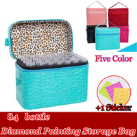 84 Bottles Diamond Painting Cross Stitch Accessories Tool Box Container Diamond Storage Full Square 5D Embroidery Mosaic