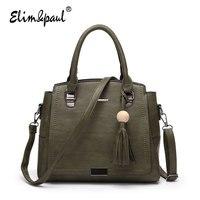 ELIM PAUL New Arrival Women Messenger Bags Women Leather Bag Handbags Women Bag Vintage Casual Brands