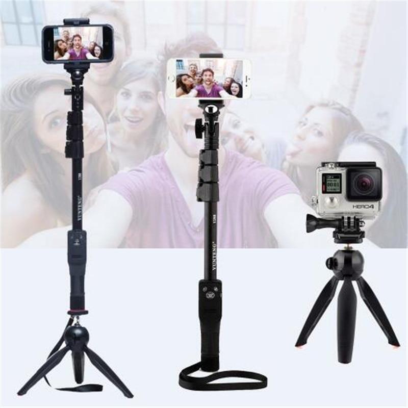 все цены на For Gopro Hero Digital Camera Phone Yunteng 1288 Bluetooth Selfie Stick Self-Timer Pole Self-portrait Monopod Or 228 Mini Tripod онлайн