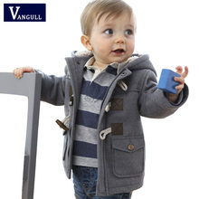 2016 New Baby Boys Jacket Winter Clothes 2 Color Outerwear Coat Cotton Thick Kids Snowsuit Clothes Children Clothing With Hooded