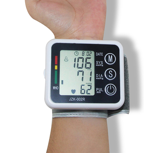 2016 New Health Care Automatic Wrist Digital Blood Pressure Monitor Tonometer Meter for Measuring And Pulse Rate X004