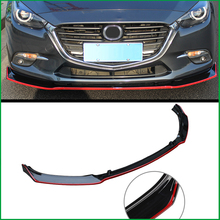 Car Styling For Mazda 3 M3 Axela 2014-2018 ABS Front Bumper Lower Grille Protector Plate Lip Cover Sticker Trim Decorative strip