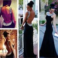 Sexy Women Backless Prom Ball Evening Sequins Party Clubwear Long Formal Dress