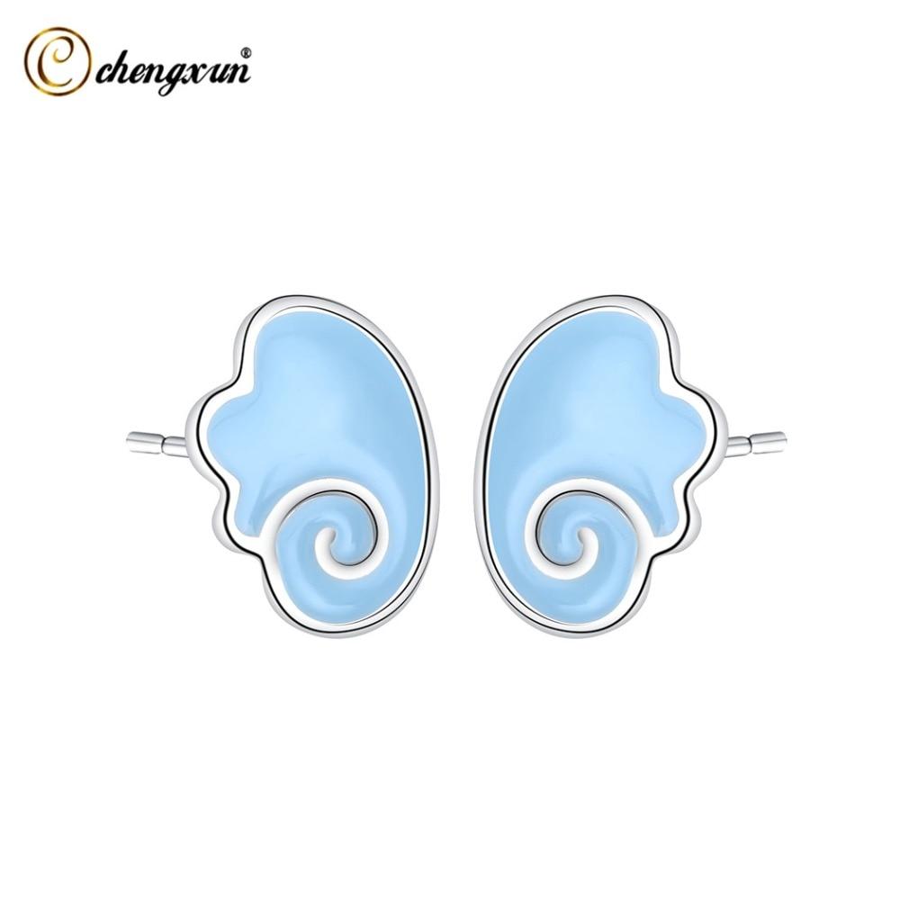 Aufstrebend Chengxun Baby Blau Flügel Stud Ohrringe Mode Frauen Zubehör Nette Kleine Ohrringe Geschenke Für Mädchen Kinder Ohrringe Extrem Effizient In Der WäRmeerhaltung