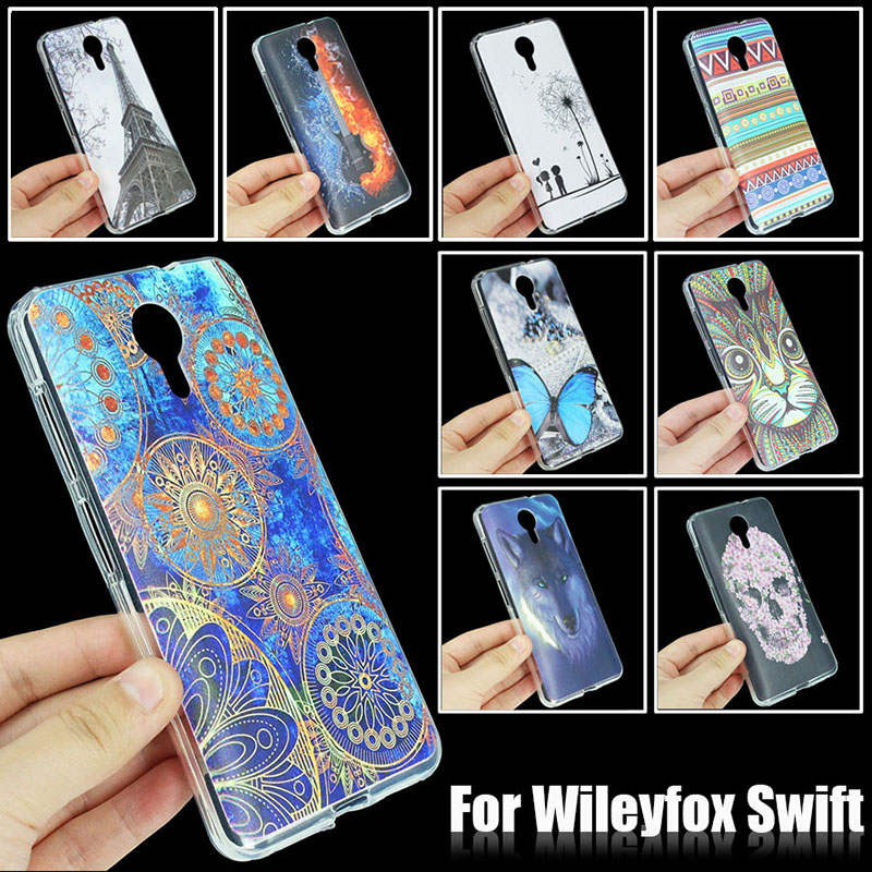 JONSNOW Fashion Painted Phone Case For Wileyfox Swift All Inclusive Cases Soft Silicone Protection Cover Capa Fundas