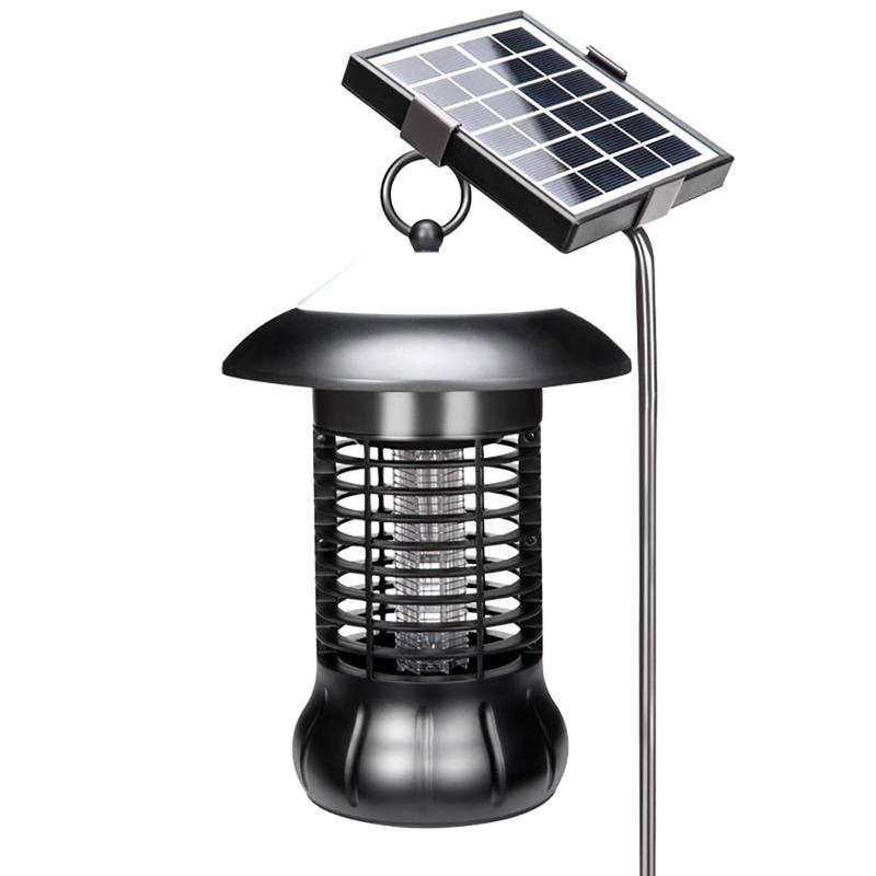 Insecte solaire Zapper tueur de moustiques piège à insectes électrique capteur de mouche terminateur lampe d'éclairage UV led catalyseur