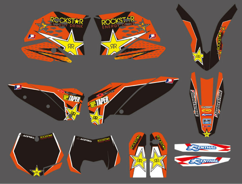 ФОТО 0001 NEW Style TEAM GRAPHIC WITH MATCHING BACKGROUNDS FOR KTM SX SXF FULL SIZE MODEL 2007-2010 EXC XC FULL SIZE MODEL 2008-2011