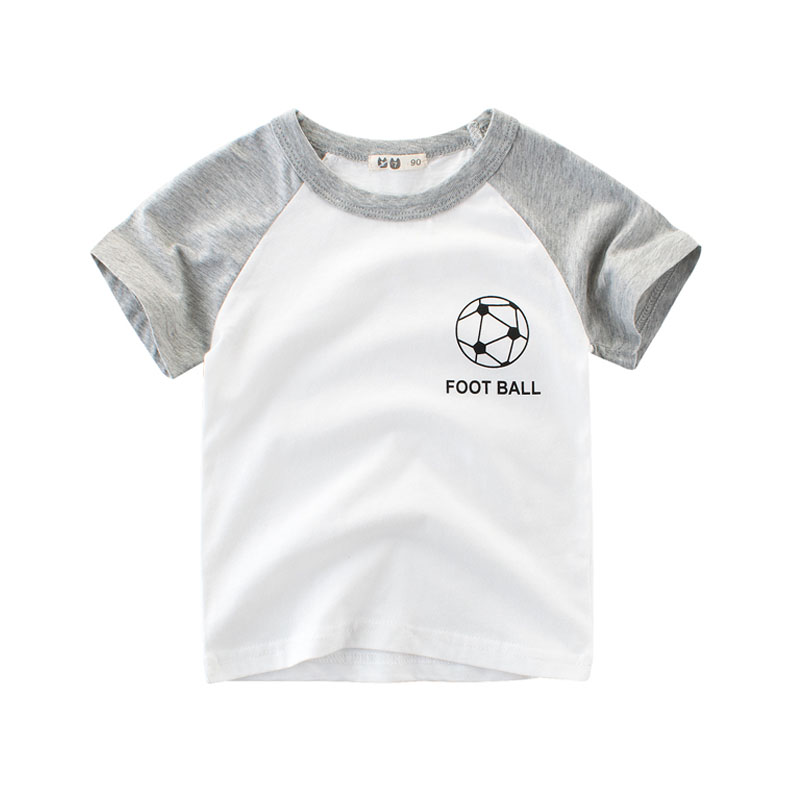 2018 Football T-shirt Kids Boy Short Sleeve Cotton Children T Shirts Baby Boys Girls 2 3 4 5 6 7 8 Years Sports Kids Tees Summer kids clothes boys 4 5 6 7 8 9 10 11 12 years washed denim shorts short sleeve t shirt summer casual children clothing set boy