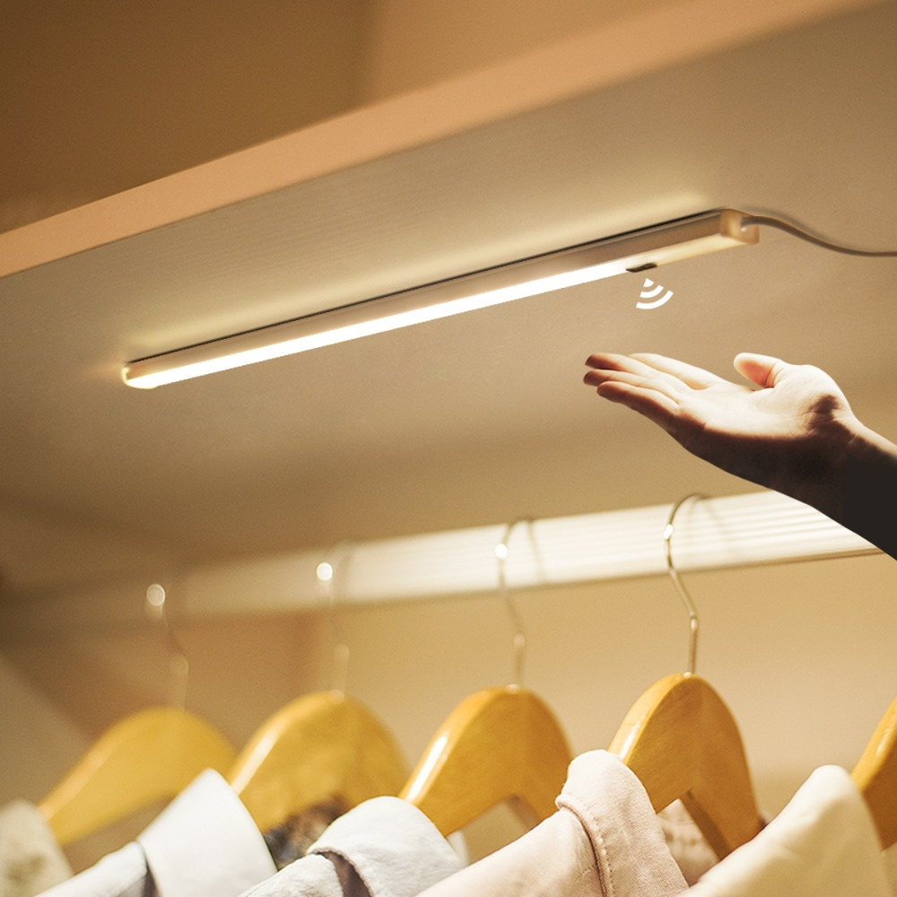 Slim Hand Scan Sensor Led Boek Licht 12 V Stijve Bar Licht 5 W 7 W 9 W Bed Leesboek Lamp Voor Slaapkamer Garderobe Kast Kast Boekenkast