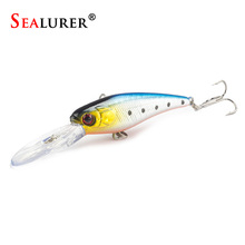 SEALURER 9cm 8G High Quality 6# Hooks Fly Fishing Minnow Lure Wobble Pesca Plastic Hard Bait Crankbait 1pcs/lot 10 colors