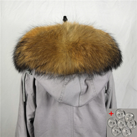 Real raccoon fur 70cm collar winter scarf women real fur scarf neck cap 100%natural raccoon wider bigger luxury collar