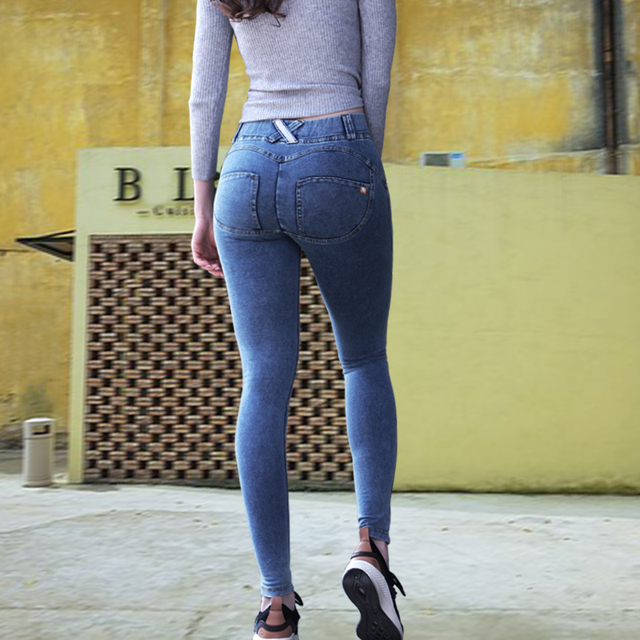 Casual Jeans Skinny Leggings Denim Pants Push Up Hip Pencil High Street 2