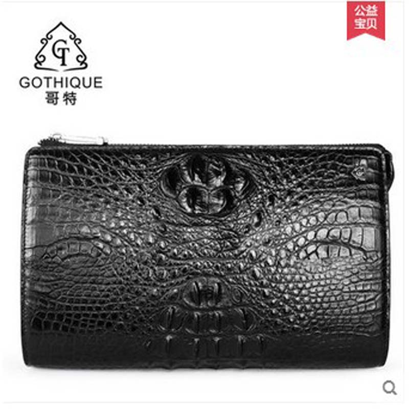 2018 gete new hot free shipping thailand crocodile leather men clutches men high-volume business men bag long men purse all new x men volume 6