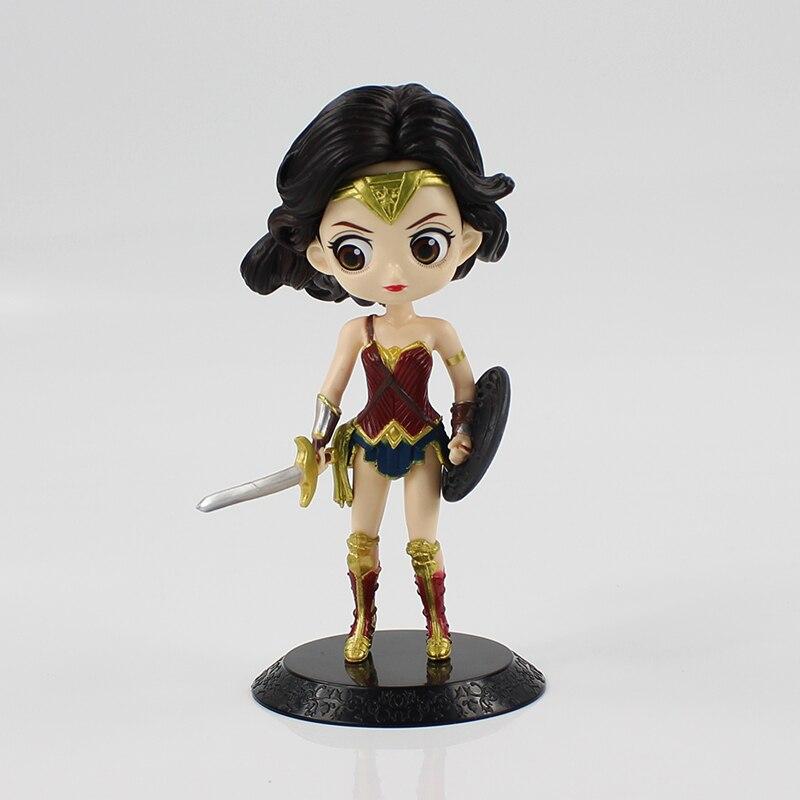 16 см Wonder Woman рисунок игрушки Симпатичные Q Posket Wonder Woman ПВХ Рисунок Красота модель игрушки куклы с базовыми