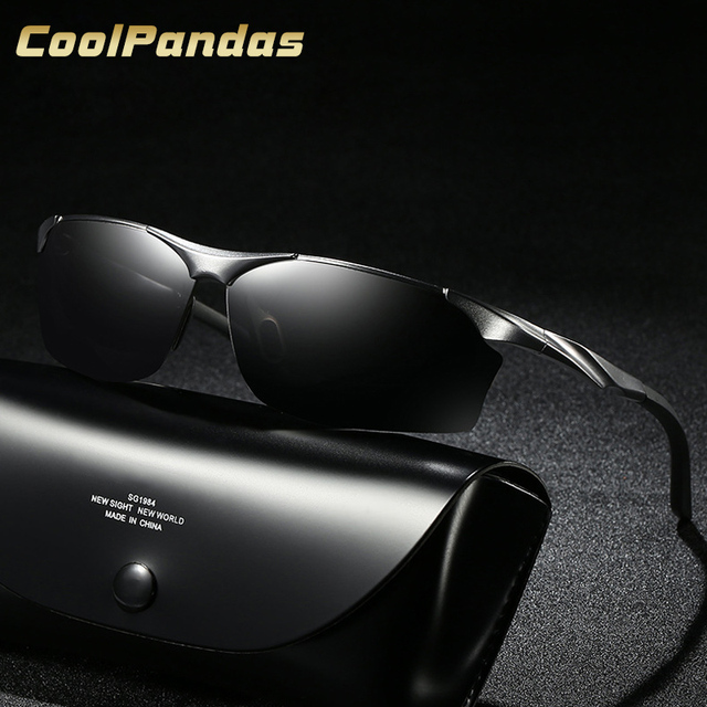 c683ca9619 2018 Fashion men s aluminum-magnesium HD polarized sunglasses drivers night  vision goggles anti-glare Driving Sunglass Oculos
