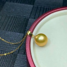 shilovem 18k yellow gold real Natural pearls pendants fine Jewelry women trendy no necklace party new gift plant mymz8.5-922zz цена в Москве и Питере