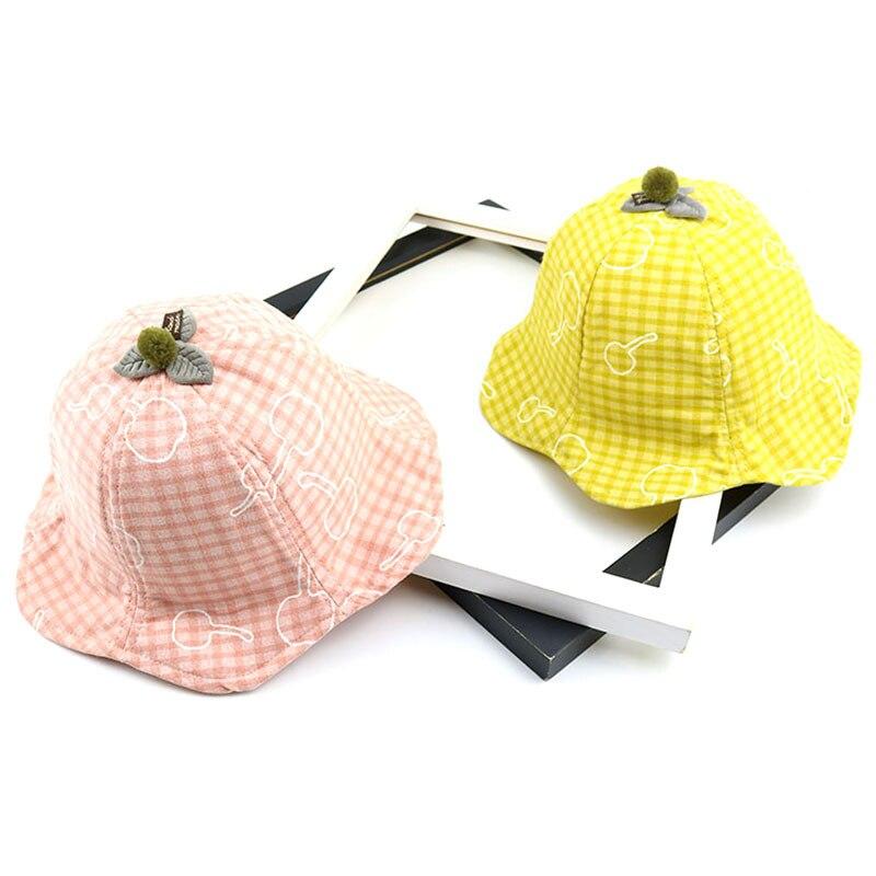 100% Wahr 2019 Baumwolle Mode Plaid Eimer Hut Fischer Hut Im Freien Reise Hut Sonne Kappe Hüte Für Kinder Jungen Und Mädchen 030